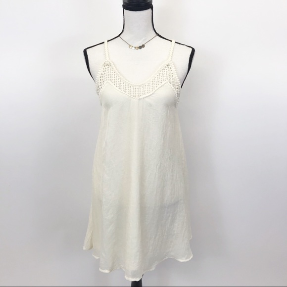 Hm Cream Lace Cut Out Tank Dress 4
